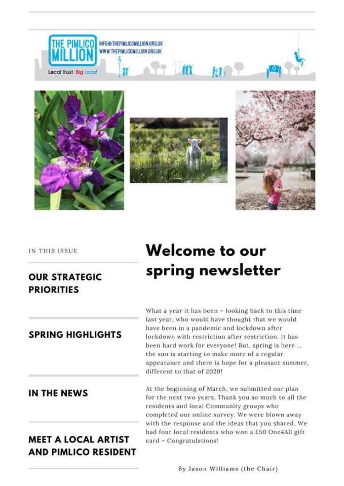 Cover of Spring Newsletter